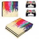 Pouring Color ps4 pro skin decal for console and controllers