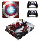 Captain America ps4 pro skin decal for console and controllers