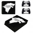Winter is coming Stark ps4 pro skin decal for console and controllers