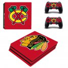 Chicago blackhawks ps4 pro skin decal for console and controllers