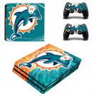 Miami Dolphins ps4 pro skin decal for console and controllers