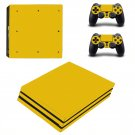 Yellow Board ps4 pro skin decal for console and controllers
