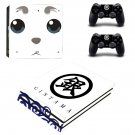 Gin Tama ps4 pro skin decal for console and controllers