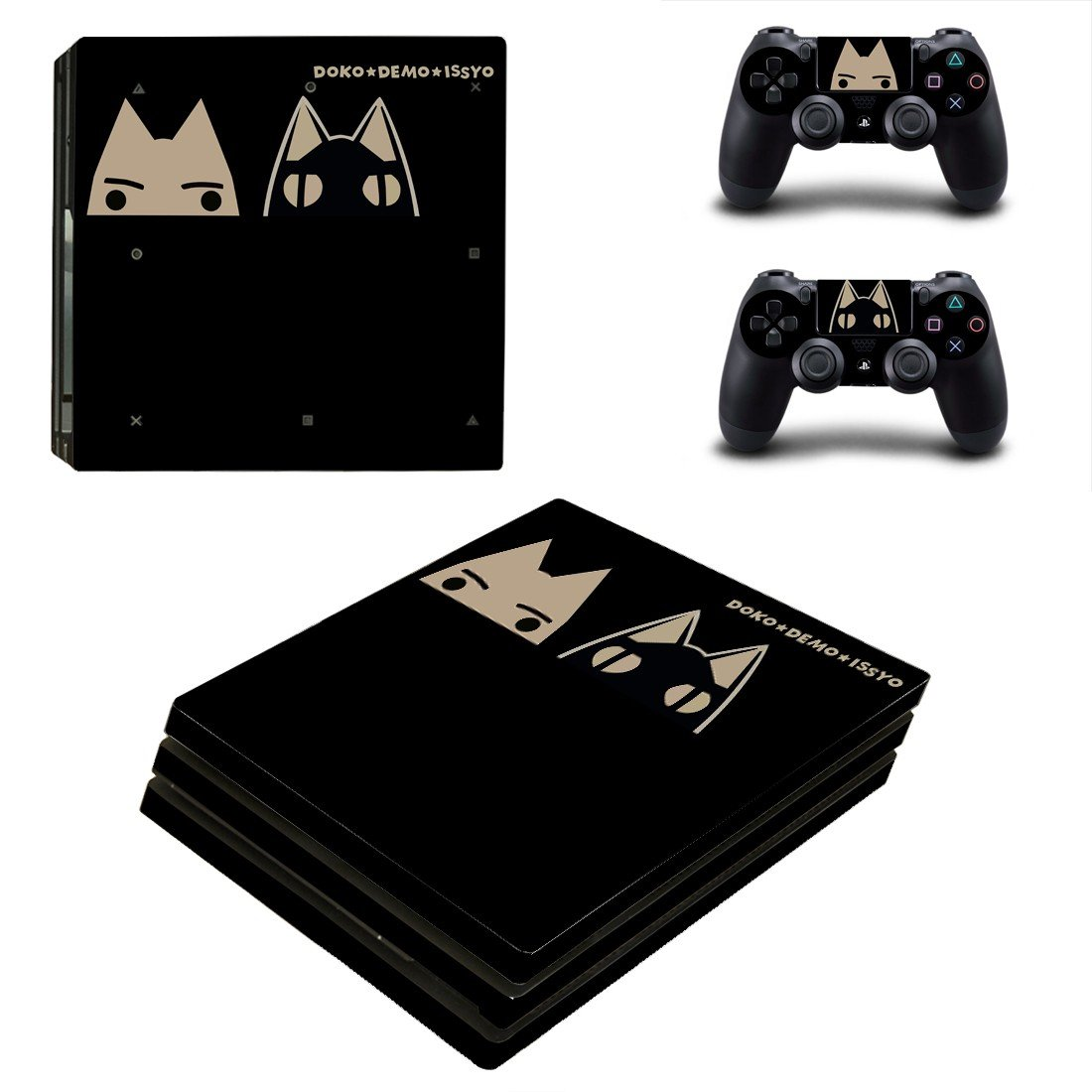 Toro Inoue ps4 pro skin decal for console and controllers