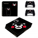 Kumamon's Solitaire ps4 pro skin decal for console and controllers