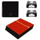 Red board ps4 pro skin decal for console and controllers