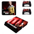 one punch man ps4 slim edition skin decal for console and controllers