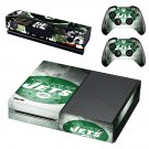 New York Jets skin decal for Xbox one console and controllers