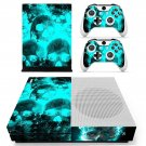 Smoky Ice Skull skin decal for Xbox one S console and controllers