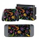 Cannabis Leaf design vinyl decal for Nintendo switch console sticker skin