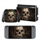 Burn Skulls design decal for Nintendo switch console sticker skin