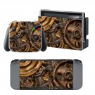 Copper Gears design decal for Nintendo switch console sticker skin