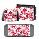 Bloody Skulls design decal for Nintendo switch console sticker skin