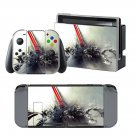 Color blast design decal for Nintendo switch console sticker skin