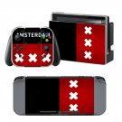 Flag of Amsterdam design decal for Nintendo switch console sticker skin