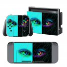 Colorful Eyes design decal for Nintendo switch console sticker skin