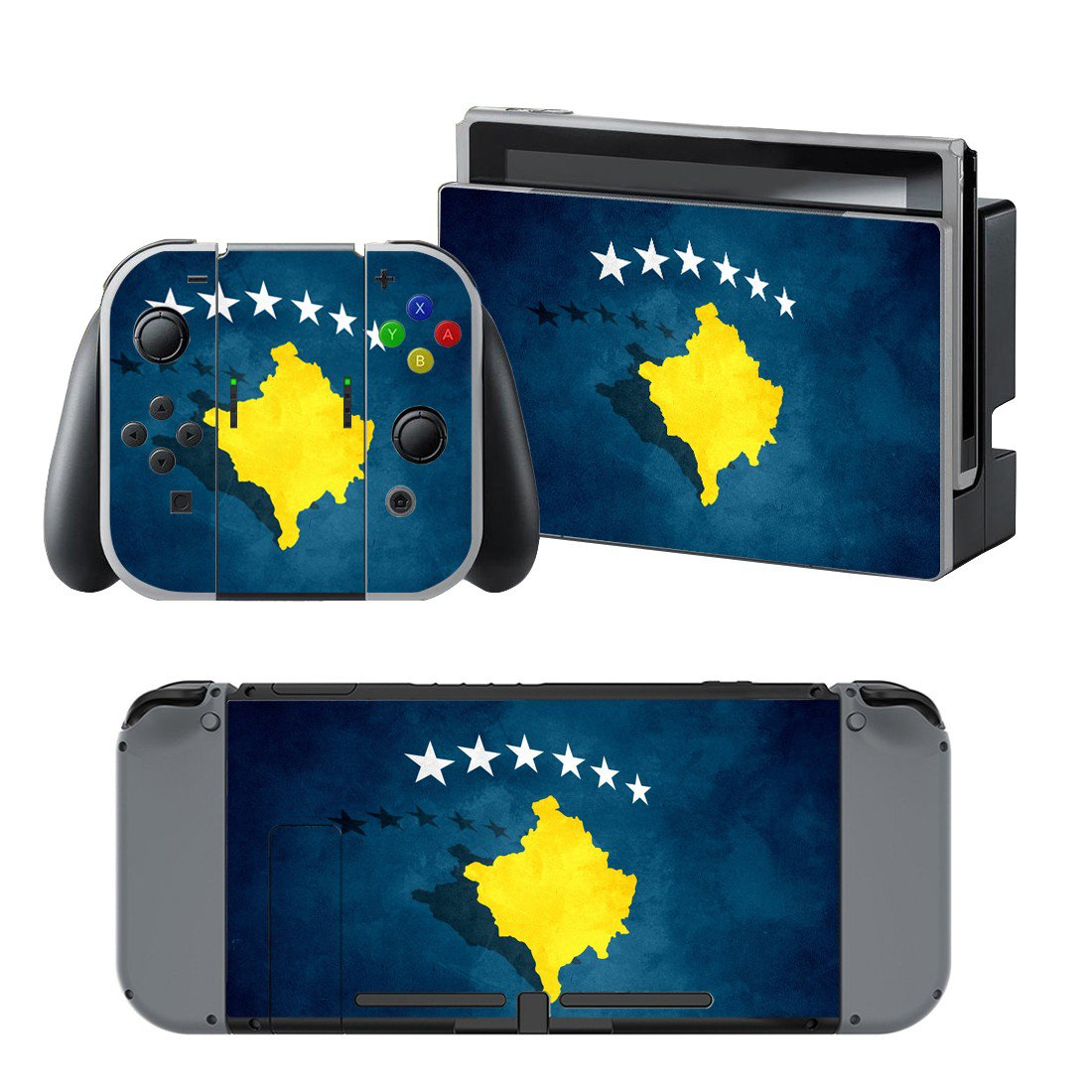 Kosovo flag design decal for Nintendo switch console sticker skin