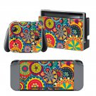 Psychedelic wallpaper design decal for Nintendo switch console sticker skin