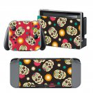 Flower Skull design decal for Nintendo switch console sticker skin