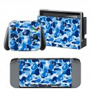 Blue Camouflage design decal for Nintendo switch console sticker skin