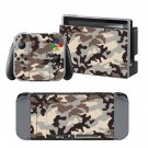 Camouflage design decal for Nintendo switch console sticker skin