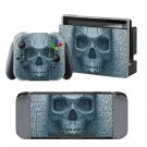 Blurry Skull design decal for Nintendo switch console sticker skin