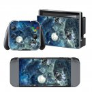 Water Color Wolf design decal for Nintendo switch console sticker skin