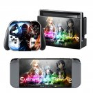 Sword Art design decal for Nintendo switch console sticker skin