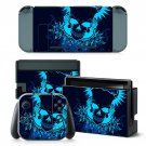 Cool Fire Skull design decal for Nintendo switch console sticker skin