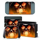 Fire Skull design decal for Nintendo switch console sticker skin