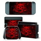 Red Fire Skull design decal for Nintendo switch console sticker skin
