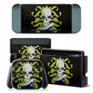 Animated Skull design decal for Nintendo switch console sticker skin