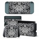 Hipster Pattern design decal for Nintendo switch console sticker skin