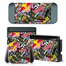 Sticker Bomb design decal for Nintendo switch console sticker skin
