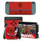 Marvel Heroes and Villains decal for Nintendo switch console sticker skin