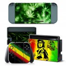 Cannabis decal for Nintendo switch console sticker skin