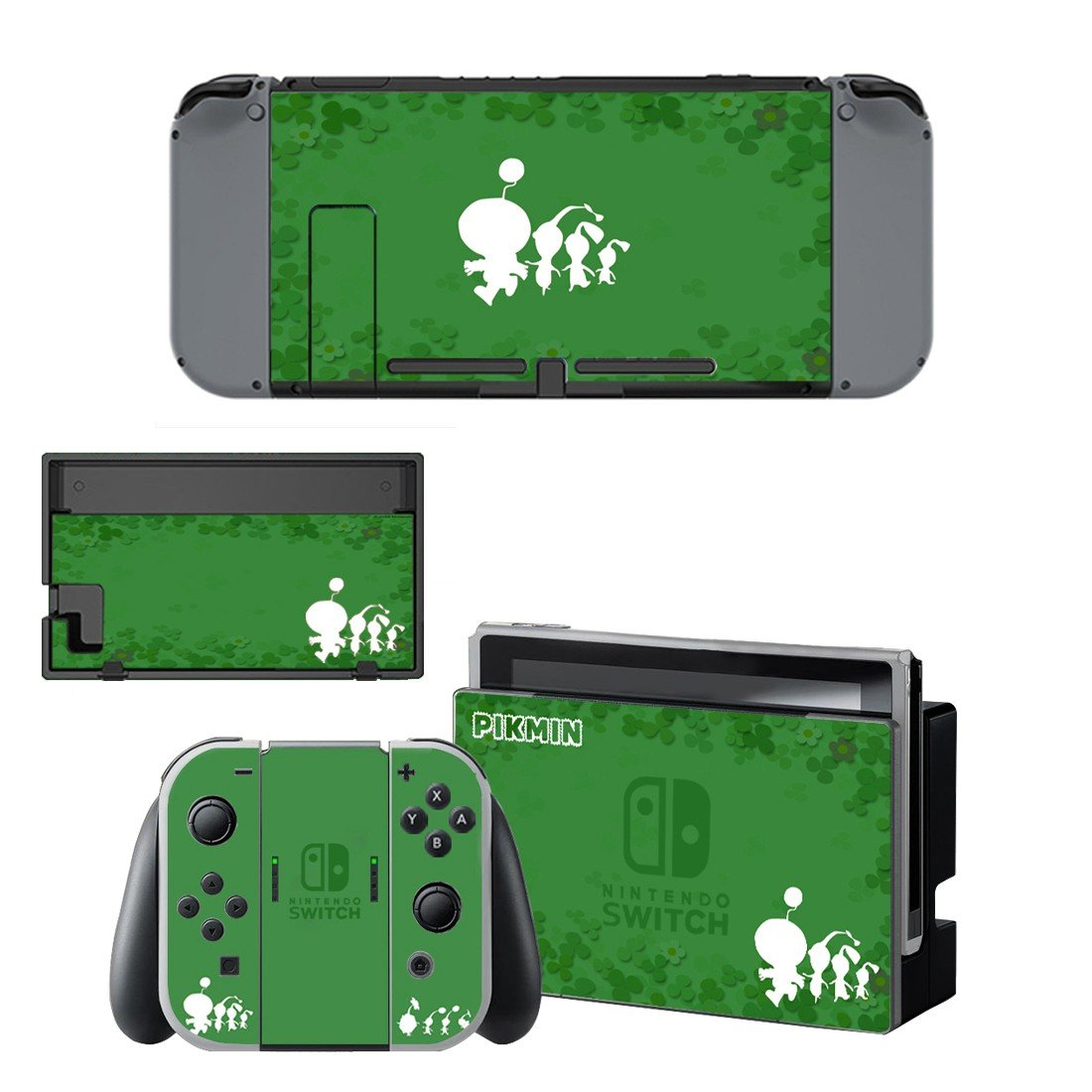 Pikmin decal for Nintendo switch console sticker skin