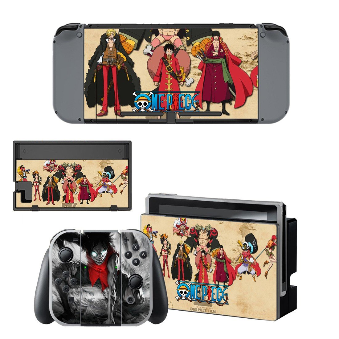One Piece decal for Nintendo switch console sticker skin