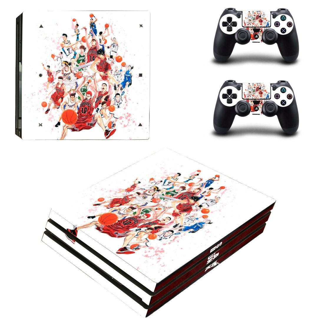 Slam Dunk Anime ps4 pro skin decal for console and controllers