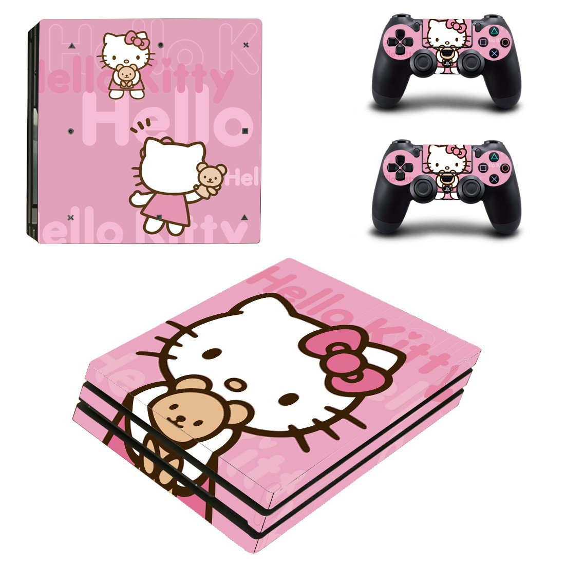 Hello Kitty ps4 pro skin decal for console and controllers
