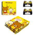 Rilakkuma meets honey ps4 pro skin decal for console and controllers