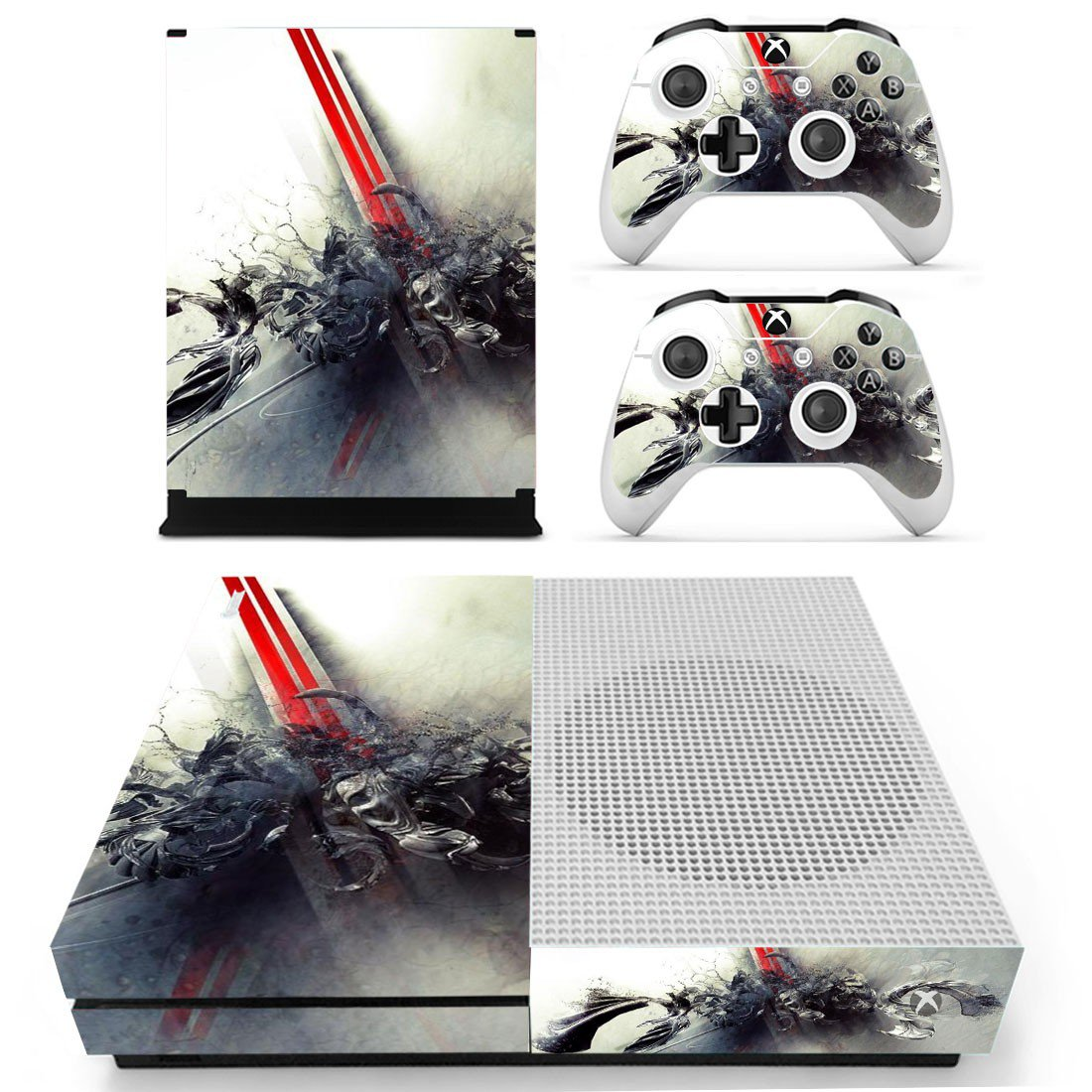 Color blast skin decal for Xbox one S console and controllers
