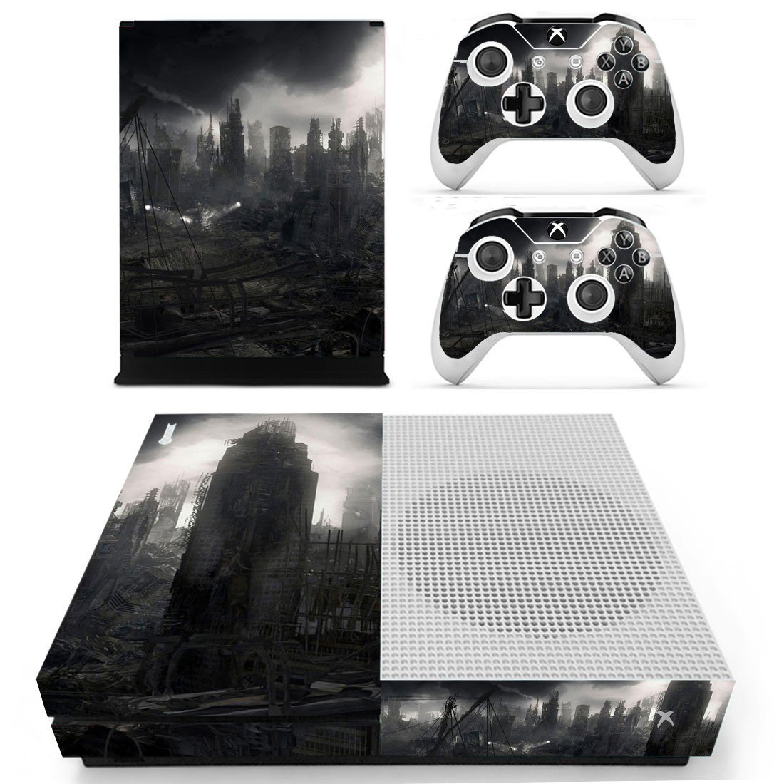 Destruction City skin decal for Xbox one S console and controllers