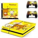 Rilakkuma skin decal for PS4 PlayStation 4 console and 2 controllers