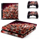 Chess Board skin decal for PS4 PlayStation 4 console and 2 controllers