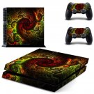Spiral Bond skin decal for PS4 PlayStation 4 console and 2 controllers
