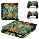 Spiral Flower skin decal for PS4 PlayStation 4 console and 2 controllers