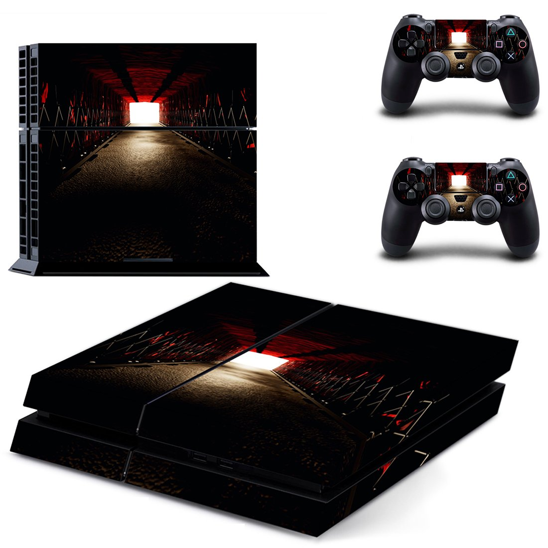 Dark Room skin decal for PS4 PlayStation 4 console and 2 controllers