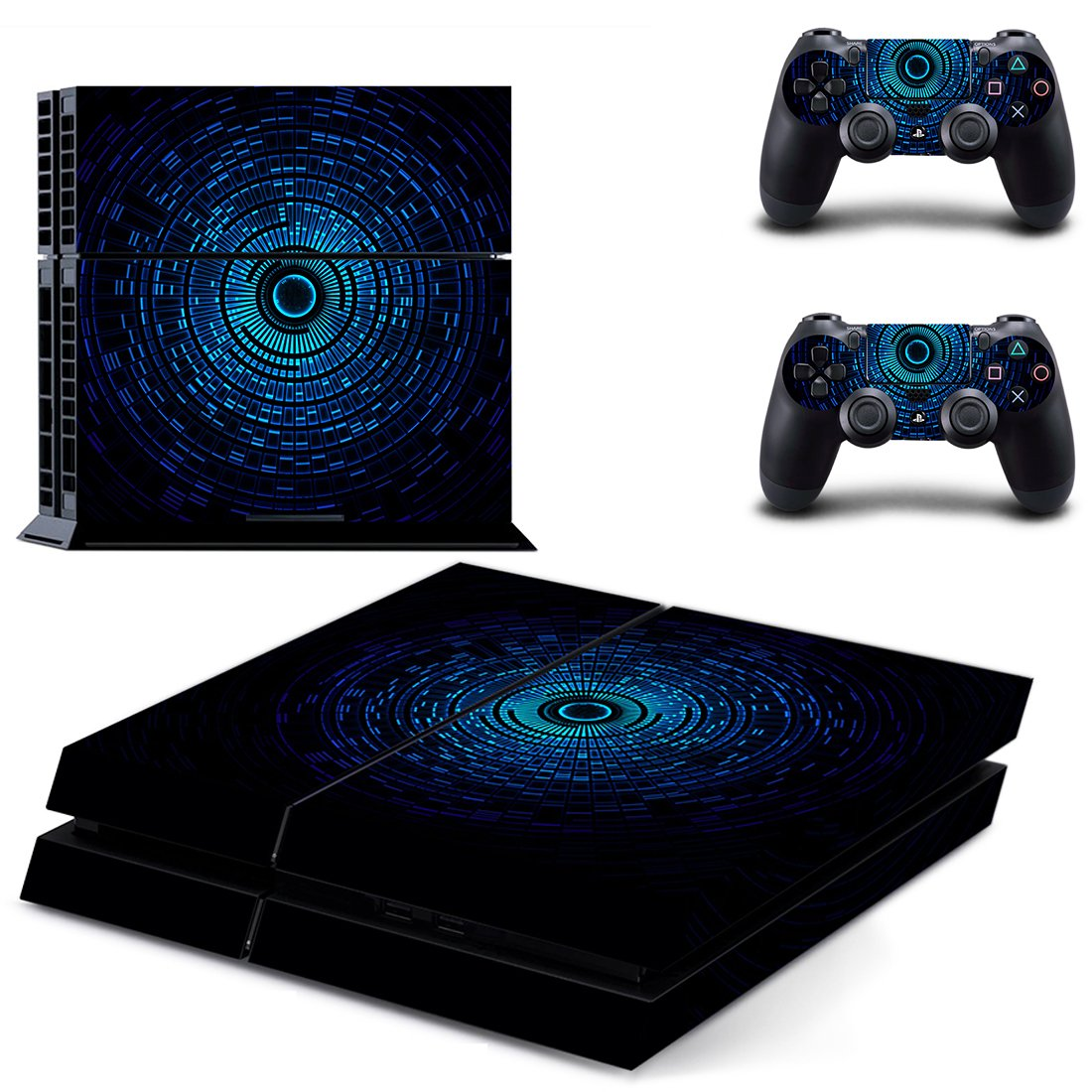 New Technology skin decal for PS4 PlayStation 4 console and 2 controllers