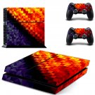 Prismic Pattern  skin decal for PS4 PlayStation 4 console and 2 controllers